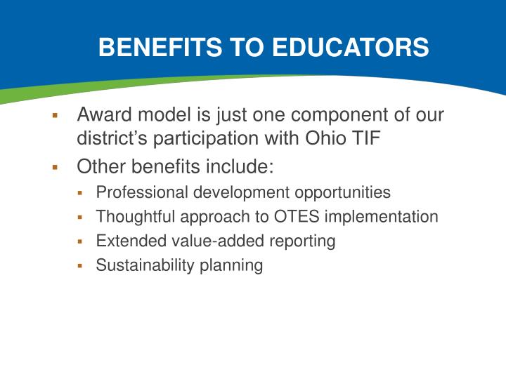 Benefits to Educators