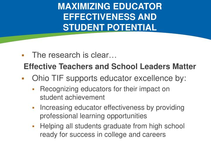 maximizing educator effectiveness and