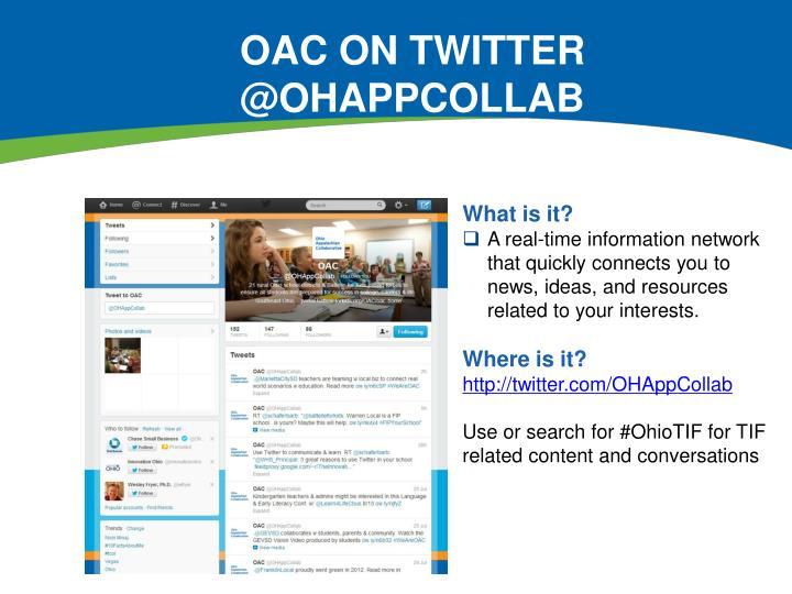 OAC on Twitter @