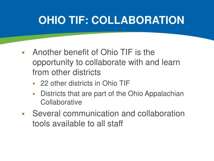 Ohio TIF: Collaboration