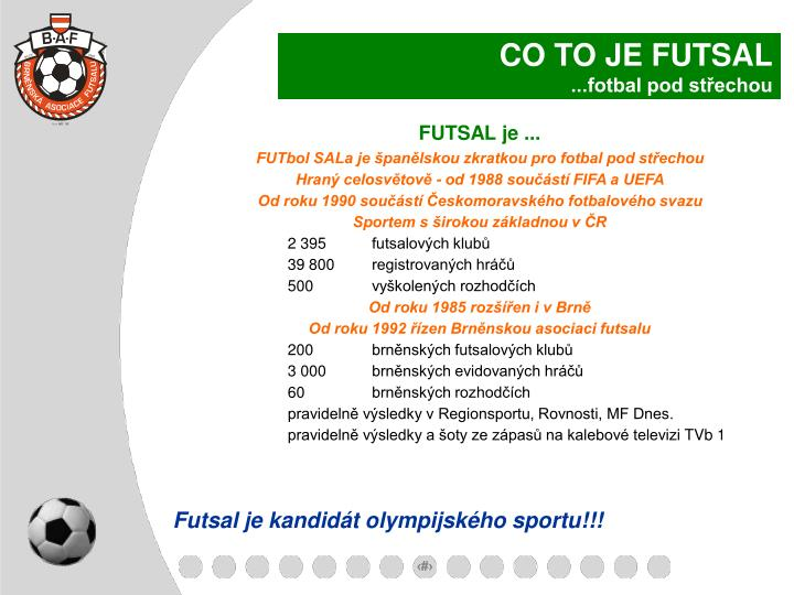 CO TO JE FUTSAL