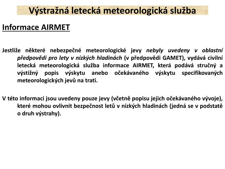 Výstražná letecká meteorologická služba