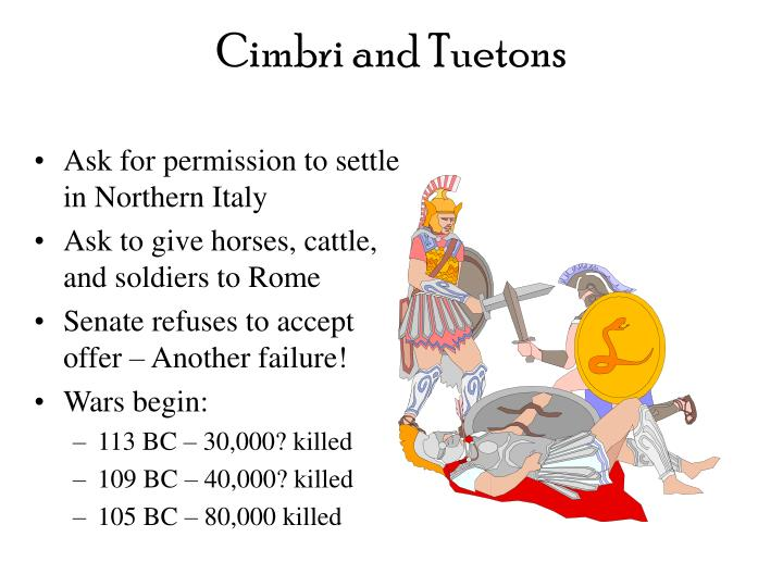 Cimbri and Tuetons