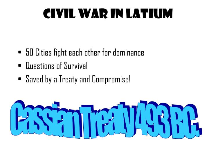 Civil War in Latium