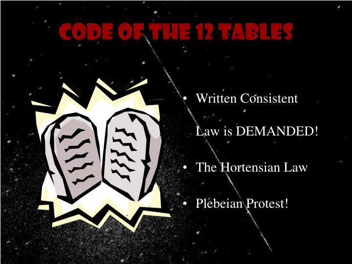 Code of the 12 Tables