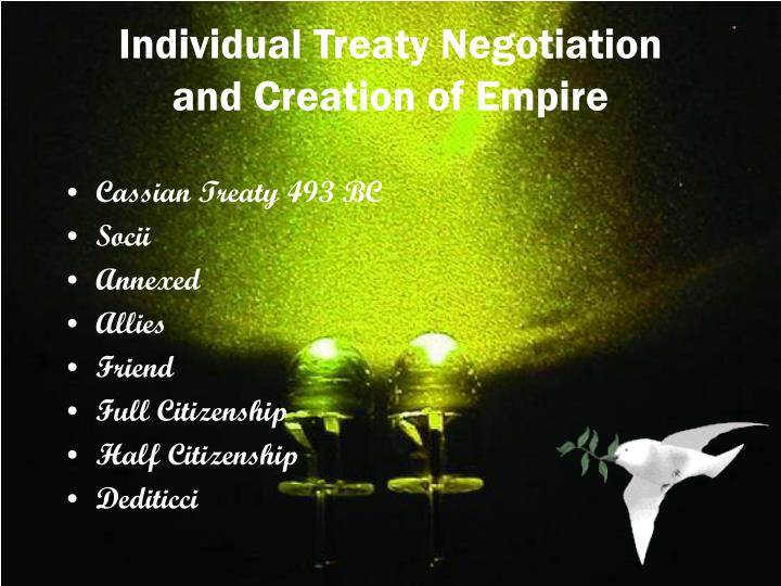 Individual Treaty Negotiation