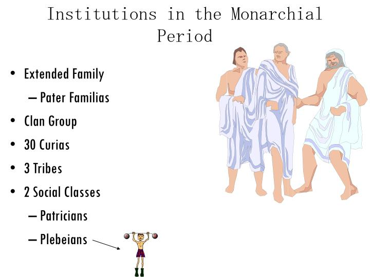 Institutions in the Monarchial Period