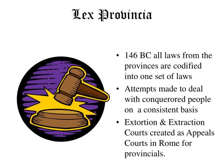 Lex Provincia