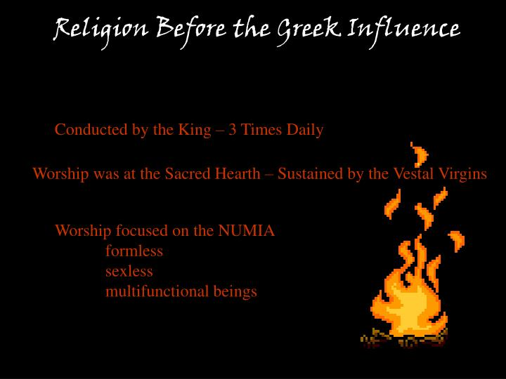 Religion Before the Greek Influence