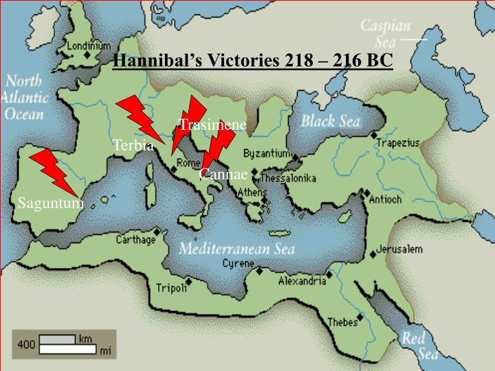 Hannibal's Victories 218 – 216 BC