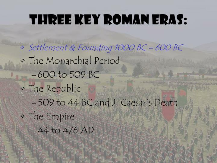 Three Key Roman Eras: