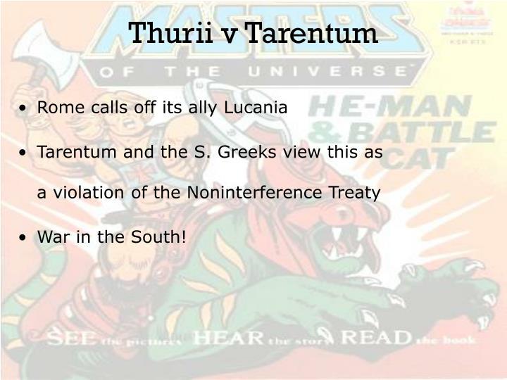 Thurii v Tarentum