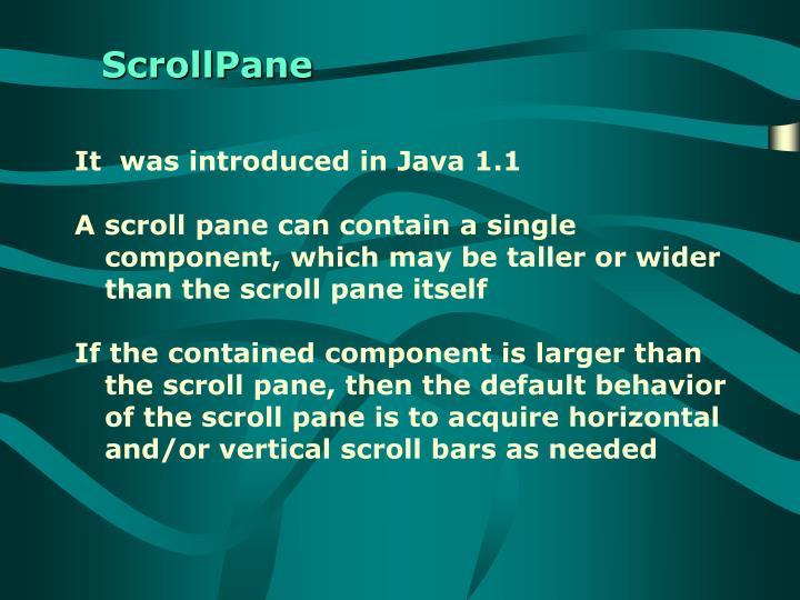 ScrollPane