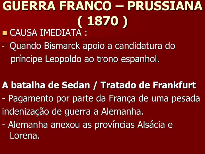 GUERRA FRANCO – PRUSSIANA