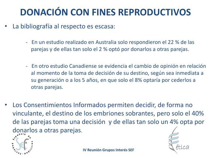 DONACIÓN CON FINES REPRODUCTIVOS