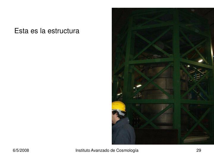 Esta es la estructura