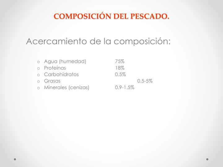 COMPOSICIÓN DEL PESCADO.