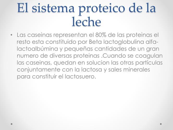 El sistema proteico de la leche