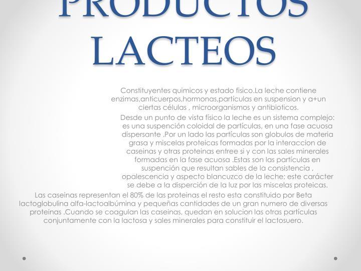 LECHE Y PRODUCTOS LACTEOS