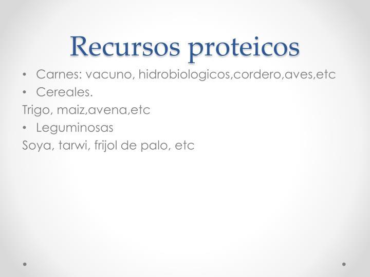 Recursos proteicos