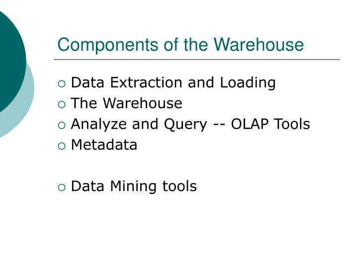 Components of the Warehouse