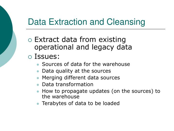 Data Extraction and Cleansing