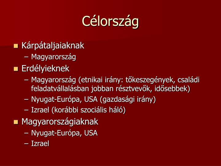 Célország