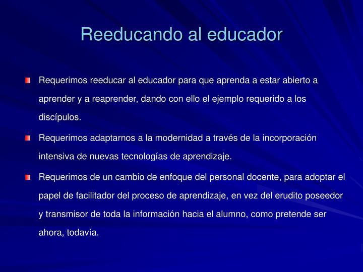 Reeducando al educador