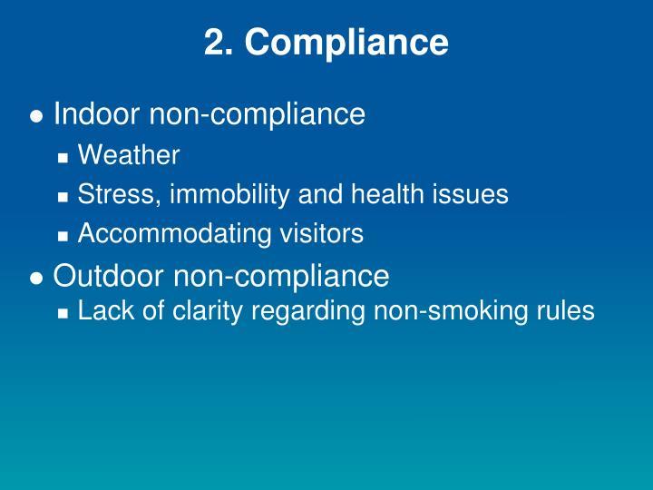 2. Compliance