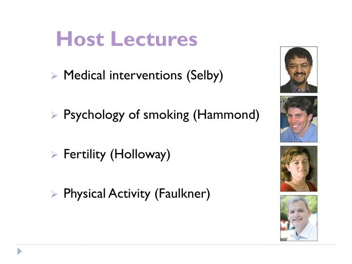 Host Lectures