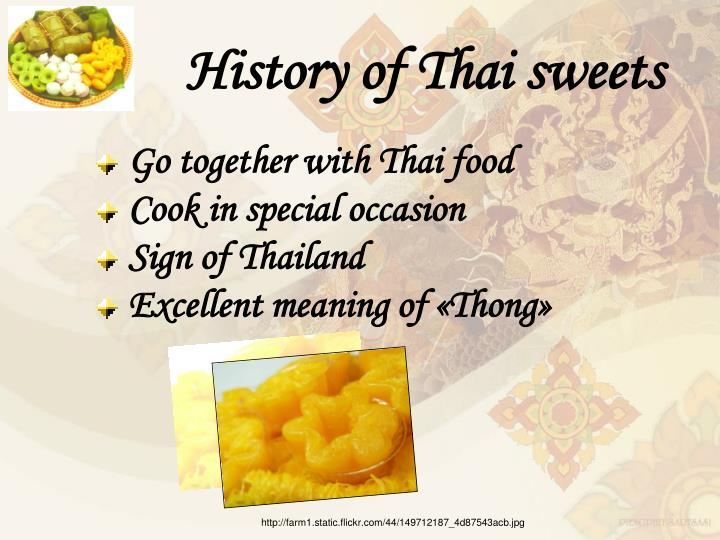 History of Thai sweets