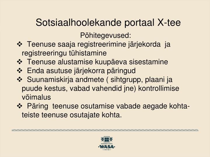 Sotsiaalhoolekande portaal X-tee