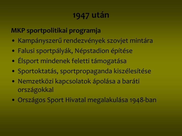 1947 után