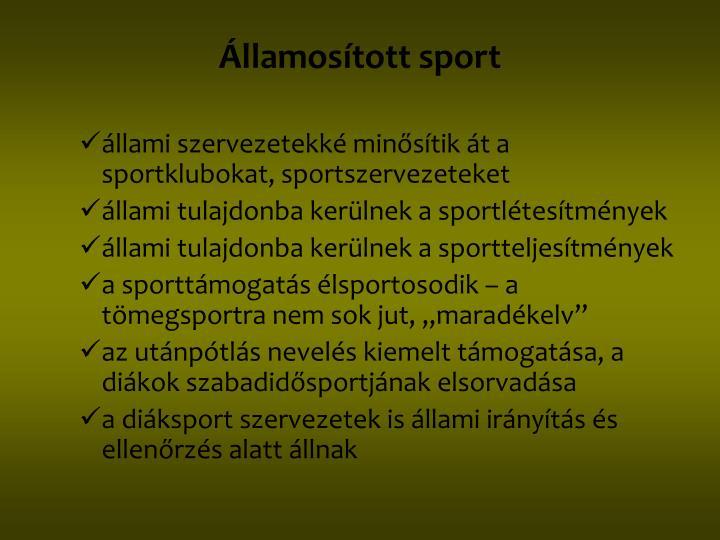 Államosított sport