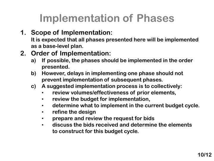 Implementation of Phases
