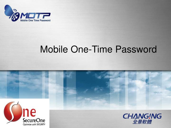 Mobile One-Time Password