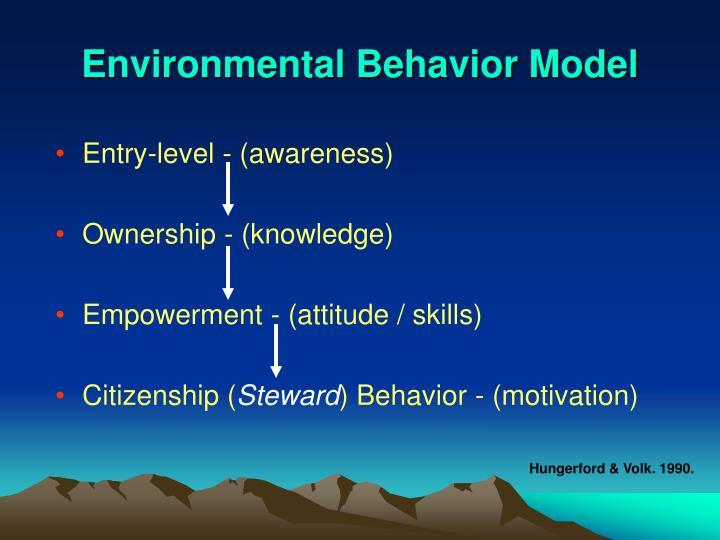 Environmental Behavior Model