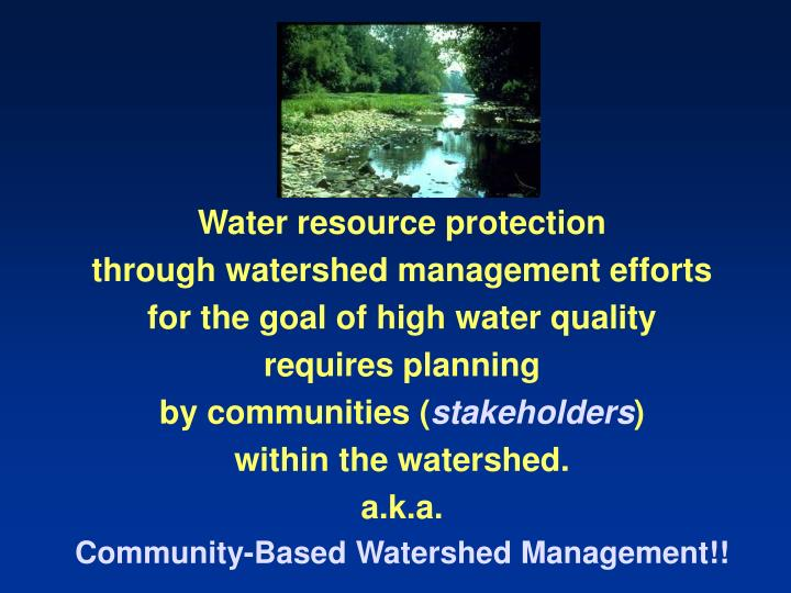Water resource protection
