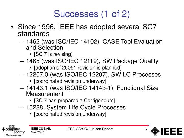 Successes (1 of 2)