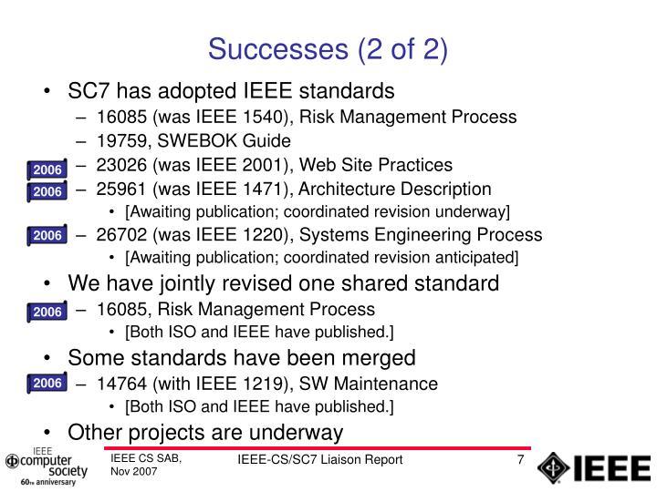Successes (2 of 2)
