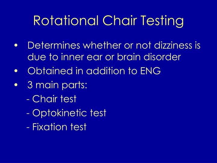Rotational Chair Testing