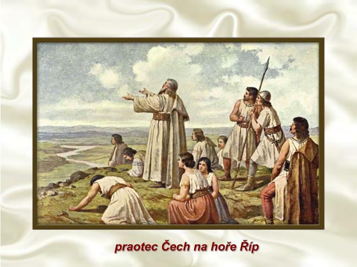 praotec Čech na hoře Říp