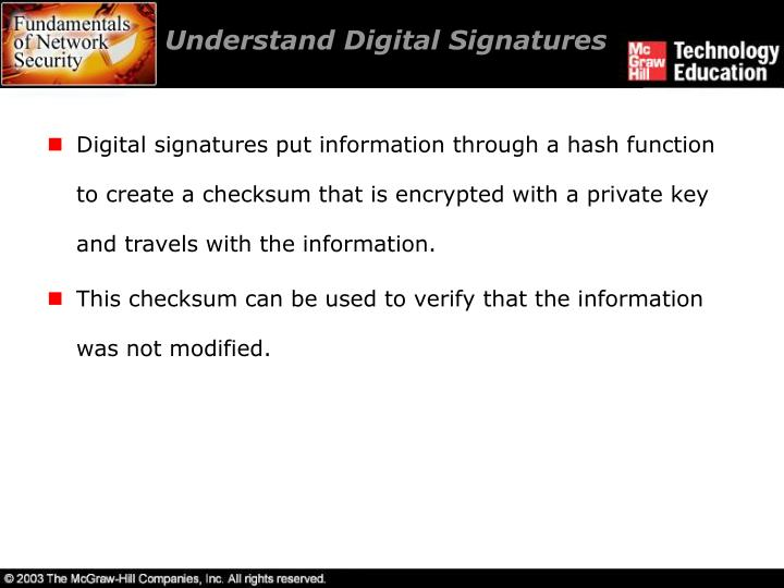 Understand Digital Signatures