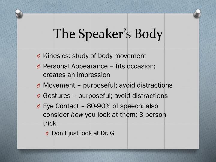 The Speaker's Body