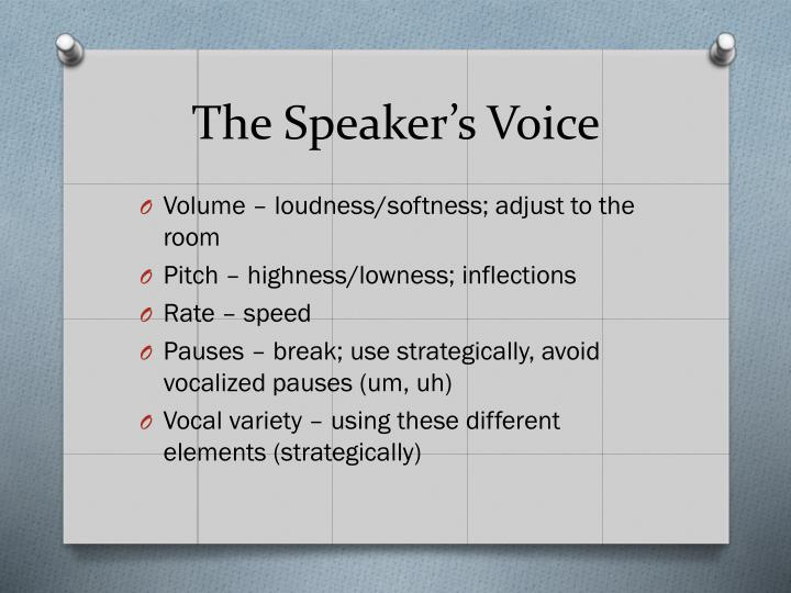 The Speaker's Voice