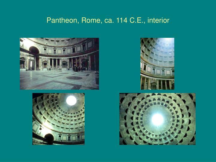 Pantheon, Rome, ca. 114 C.E., interior