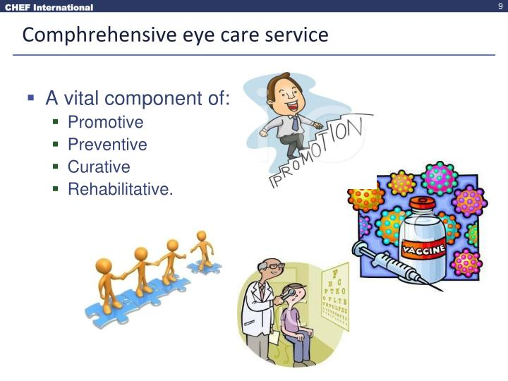 Comphrehensive eye care service