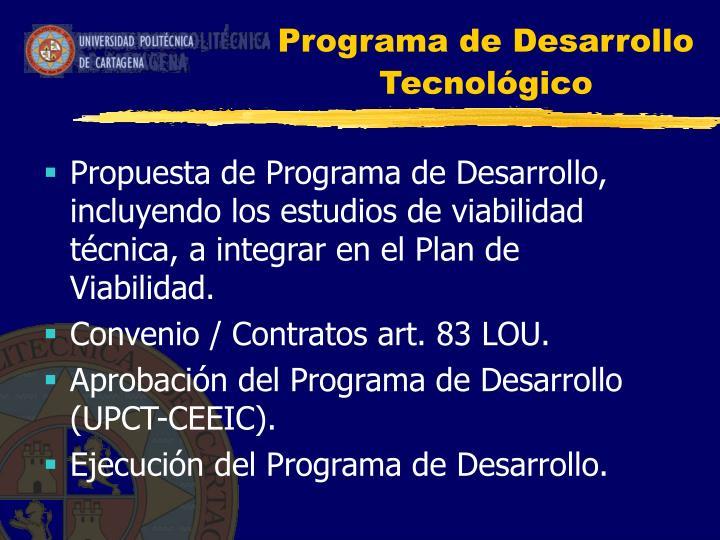 Programa de Desarrollo Tecnológico