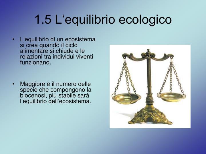 1.5 L'equilibrio ecologico