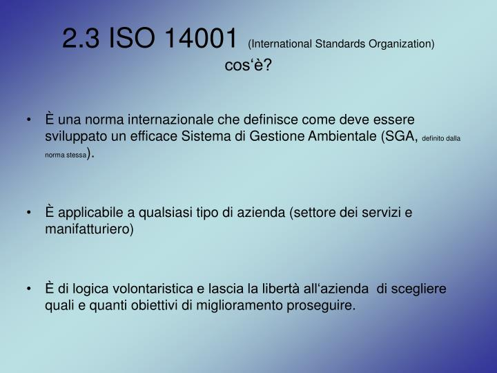 2.3 ISO 14001
